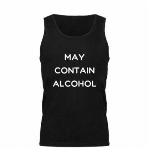 Męska koszulka Napis: May contain alcohol