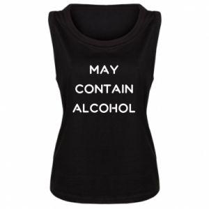 Damska koszulka bez rękawów Napis: May contain alcohol