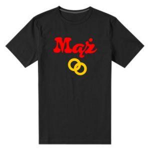 Męska premium koszulka Maż i obrączki