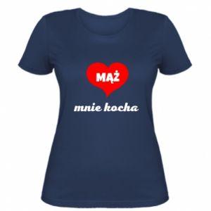 Damska koszulka Mąż mnie kocha