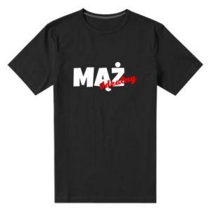 Męska premium koszulka Mąż. Idealny