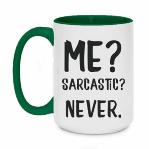 Two-toned mug 450ml Me? Sarcastic? Never.