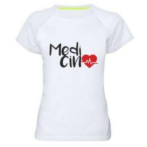 Damska koszulka sportowa Medycyna