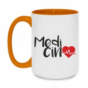 Two-toned mug 450ml Medicine