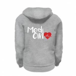 Kid's zipped hoodie % print% Medicine
