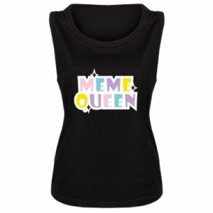 Damska koszulka bez rękawów Meme queen