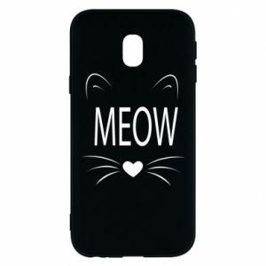 Etui na Samsung J3 2017 Meow Fluffy