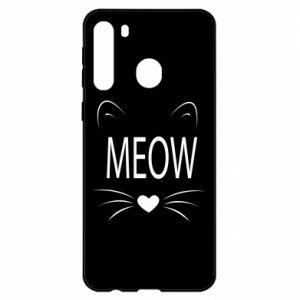 Samsung A21 Case Fluffy Meow