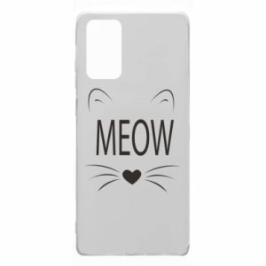 Samsung Note 20 Case Fluffy Meow
