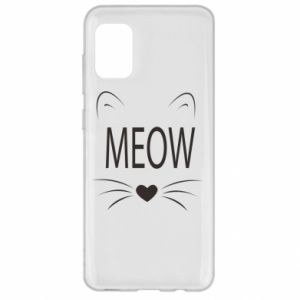 Samsung A31 Case Fluffy Meow
