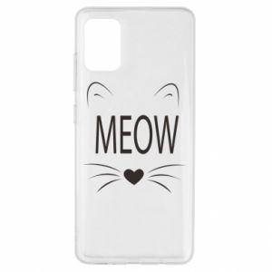 Samsung A51 Case Fluffy Meow