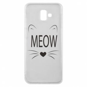 Samsung J6 Plus 2018 Case Fluffy Meow