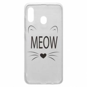 Etui na Samsung A30 Meow Fluffy