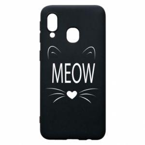 Etui na Samsung A40 Meow Fluffy