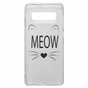 Etui na Samsung S10+ Meow Fluffy