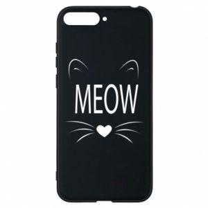Etui na Huawei Y6 2018 Meow Fluffy