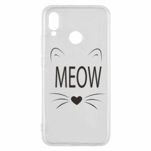Etui na Huawei P20 Lite Meow Fluffy