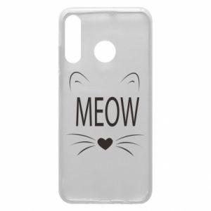 Etui na Huawei P30 Lite Meow Fluffy