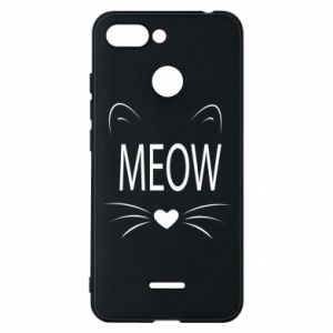 Xiaomi Redmi 6 Case Fluffy Meow