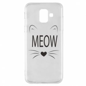 Etui na Samsung A6 2018 Meow Fluffy