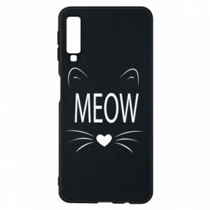 Etui na Samsung A7 2018 Meow Fluffy