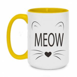 Two-toned mug 450ml Fluffy Meow