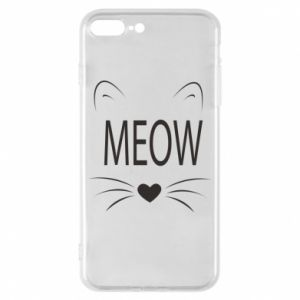 iPhone 8 Plus Case Fluffy Meow