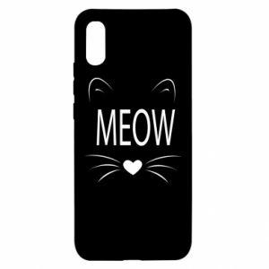 Xiaomi Redmi 9a Case Fluffy Meow