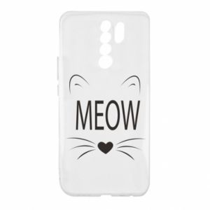Xiaomi Redmi 9 Case Fluffy Meow