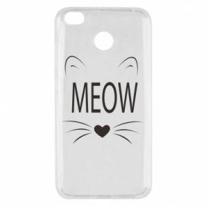 Xiaomi Redmi 4X Case Fluffy Meow