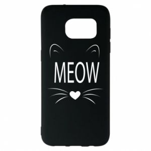 Samsung S7 EDGE Case Fluffy Meow