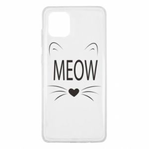 Samsung Note 10 Lite Case Fluffy Meow