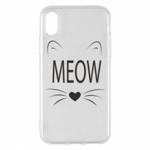 iPhone X/Xs Case Fluffy Meow