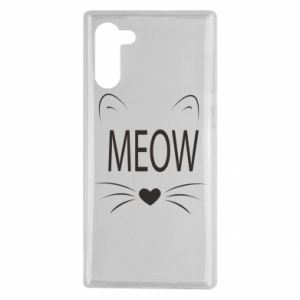 Samsung Note 10 Case Fluffy Meow