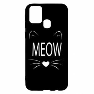 Samsung M31 Case Fluffy Meow