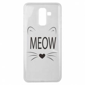 Samsung J8 2018 Case Fluffy Meow
