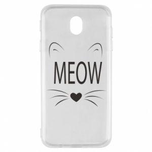 Samsung J7 2017 Case Fluffy Meow