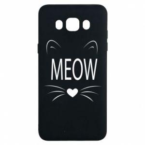 Samsung J7 2016 Case Fluffy Meow