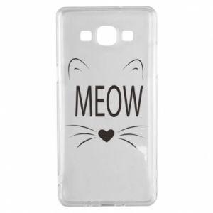 Samsung A5 2015 Case Fluffy Meow