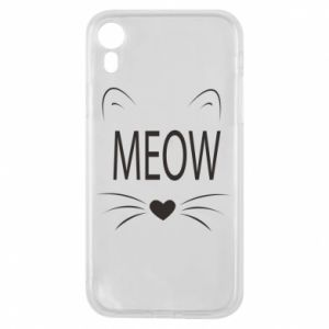 iPhone XR Case Fluffy Meow