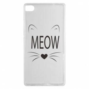 Huawei P8 Case Fluffy Meow