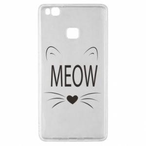 Huawei P9 Lite Case Fluffy Meow