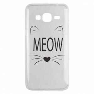Etui na Samsung J3 2016 Meow Fluffy