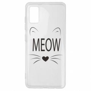 Samsung A41 Case Fluffy Meow