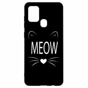 Samsung A21s Case Fluffy Meow