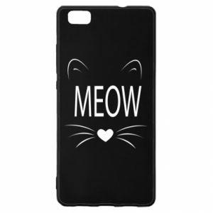 Huawei P8 Lite Case Fluffy Meow
