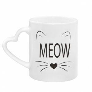 Kubek z uchwytem w kształcie serca Meow Fluffy