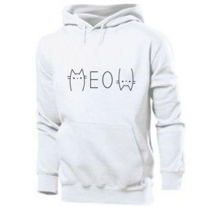 Męska bluza z kapturem Meow kot - PrintSalon