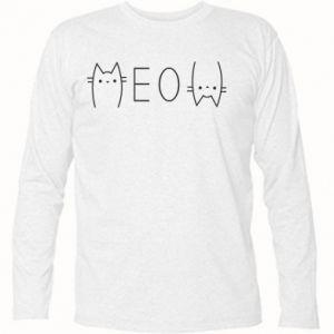 Koszulka z długim rękawem Meow kot - PrintSalon