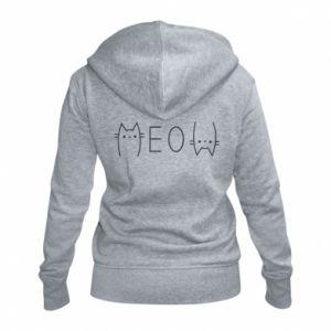 Damska bluza na zamek Meow kot - PrintSalon